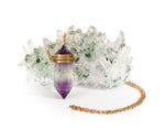 Amethyst Phantom Quartz Necklace