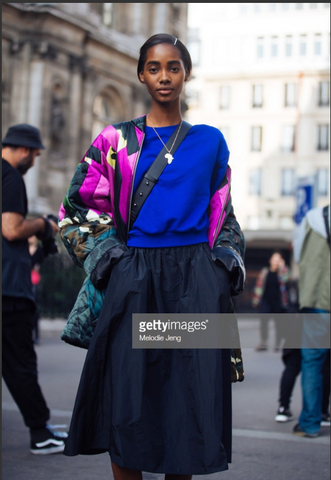 SUPERMODEL TAMI WILLIAMS WEARING MOTHERLAND NECKLACE