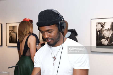 SINGER/ACTOR LUKE JAMES IN SILVER MOTHERLAND AFRICA NECKLACE
