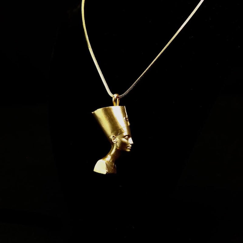 QUEEN NEFERTITI PENDANT NECKLACE - MIANIK