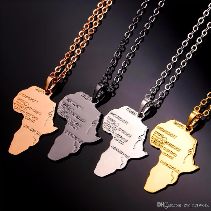 Africa Map Necklace (BUY 2 GET 1 FREE)