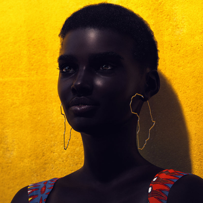 Africa Hoop Earrings (PREORDER) - MIANIK