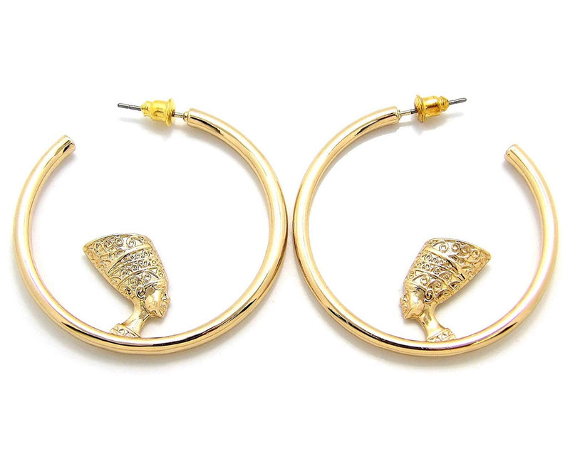Nefertiti hoop earrings - MIANIK