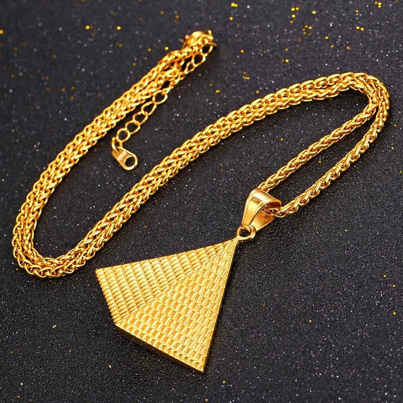 PYRAMID Egyptian gold necklace - MIANIK