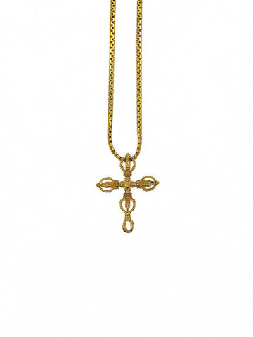 JESUS CROSS (GOLD,BLACk)