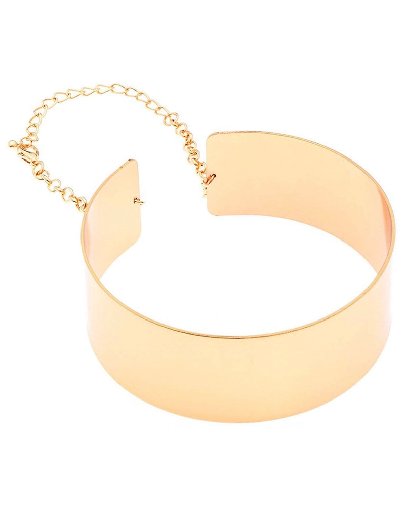 CHOKER COLLAR CUFF NECKLACE (gold,silver) - MIANIK