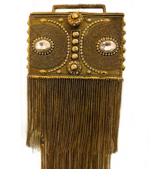 Royal Vintage Boombox Bag (gold,silver) - MIANIK