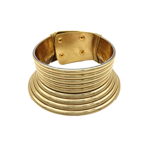 CHOKER COLLAR CUFF NECKLACE (gold,silver)