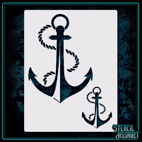 Anchor Stencil small and large by stencil assault