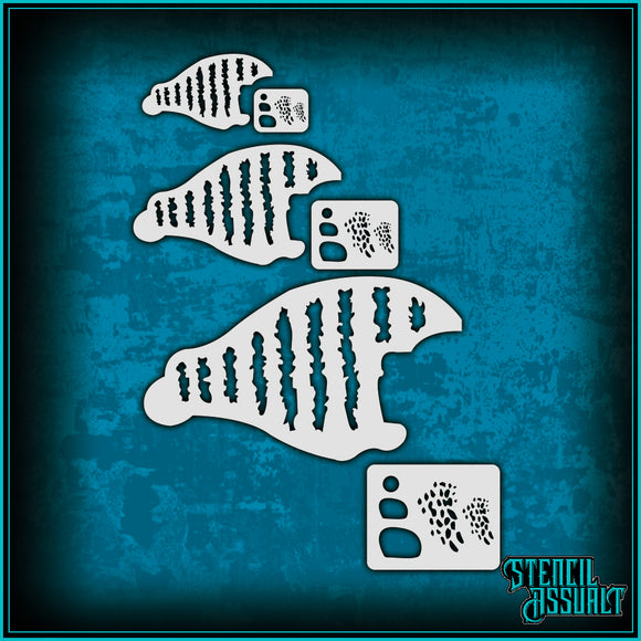 Lure Stencil - Bluegill Stripe Pack