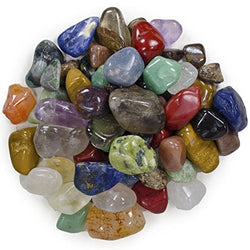 "2 Pounds Brazilian Tumbled Polished Natural Stones Assorted Mix - Small Size - 0.75"" to 1.25"" - Average 1"" - Mystic Mind Productions"