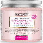 100% Natural Himalayan Salt Full Body Scrub 12 oz with Lychee Oil and Sweet Almond Oil- Best Body scrub, Deep Skin Exfoliator, Anti Cellulite, Body Wash, Moisturizer & Detox - Mystic Mind Productions