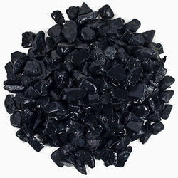 "Hypnotic Gems Materials: 18 lb Bulk Rough Shungite Stones from Russia - 1/4"" to 1/2"" - Natural Raw Rough Gemstone Supplies for Wicca, Reiki, and Energy Crystal HealingWholesale Lot"