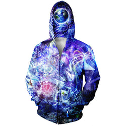 DMT Consciousness Astral Zip Up Sweatshirt