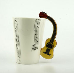 Creative Music Violin Style Guitar Ceramic Mug Coffee