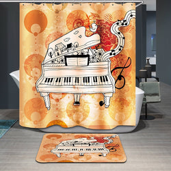 Piano Printed Polyester Bath Curtain