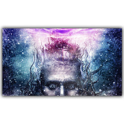 Ego Death Crown Chakra DMT Silk Print Poster - Mystic Mind Productions