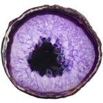 (2Pcs) Purple Agate Slices Geode Stones Coasters Cup - Mystic Mind Productions