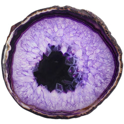 (2Pcs) Purple Agate Slices Geode Stones Coasters Cup