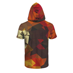 Abstract Geometric Shapes Hooded T Shirt - Mystic Mind Productions
