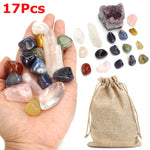 17Pcs Natural Tumbled Stone Assorted Crystal Mineral Gemstone Healing