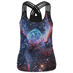 Fitness Print Nubula Tank Top - Mystic Mind Productions