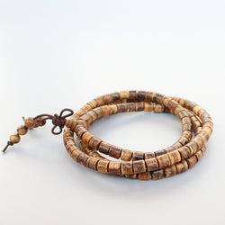 Eastisan 108 Natural Tiger Skin Prayer Beads - Mystic Mind Productions