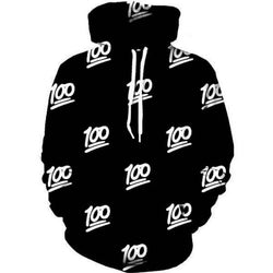 100 Emoji Hip Hop Hoodie - Mystic Mind Productions