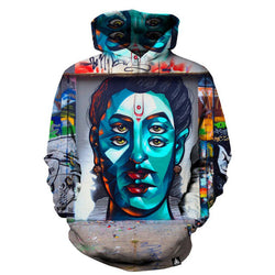 Abstract Statue Of The Buddha Hoodie - Mystic Mind Productions
