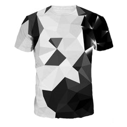Abstract Shapes Print T-Shirt - Mystic Mind Productions