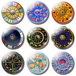 12 Zodiac Constellations 30 MM Fridge Magnet - Mystic Mind Productions
