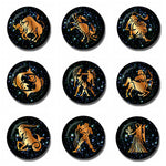 12 Constellations Zodiac 30 MM Fridge Magnet - Mystic Mind Productions