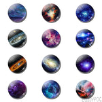 12pcs Galaxy Planet Stars 25 MM Fridge Magnet