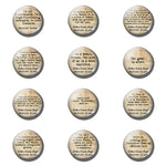 12pcs Sherlock Holmes 25 MM Fridge Magnet - Mystic Mind Productions