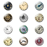 12pcs Saturn Style Clock 25 MM Fridge Magnet