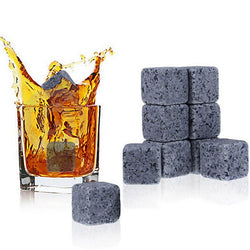 9PCS Rocks Cold Glacier Stone Magic Whisky Cooling Stone