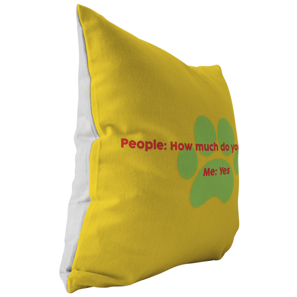Personalized Pillow - Like Dogs