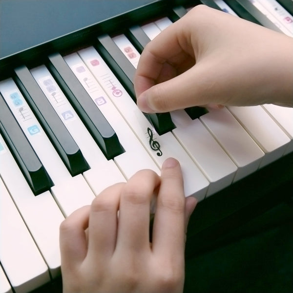 Piano Key-Name Stickers for Beginners