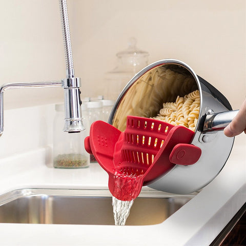 Universal Clip On Silicone Funnel Strainer