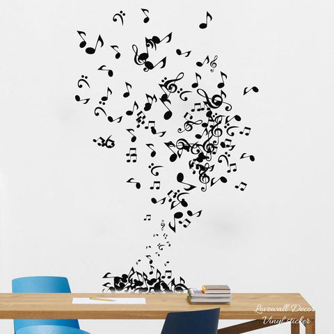 Music Notes Wall Stickers