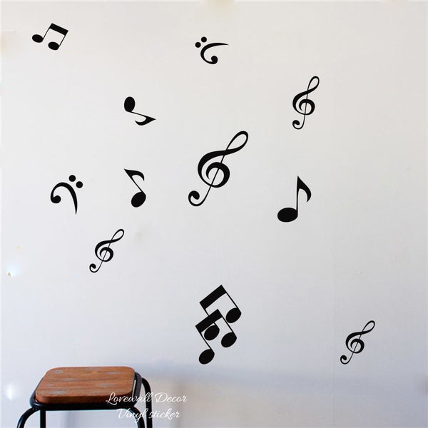 36PCS Music Notes Wall Stickers
