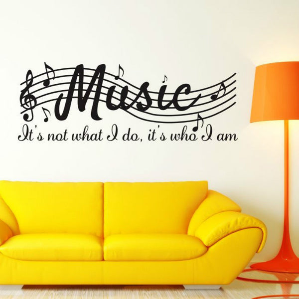 Music Is What I am Wall Decal