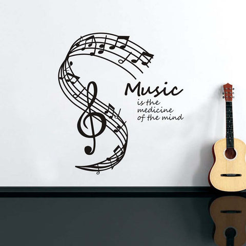 Music Is The Medicine Of The Mind Vinyl Wall Decal