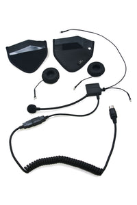 HS B170 - BMW & CB 6 Pin Speaker Pouch Half Helmet Headset