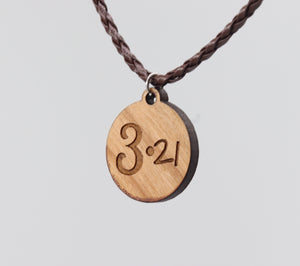 Down Syndrome Awareness 3.21 Wooden Pendant Necklace