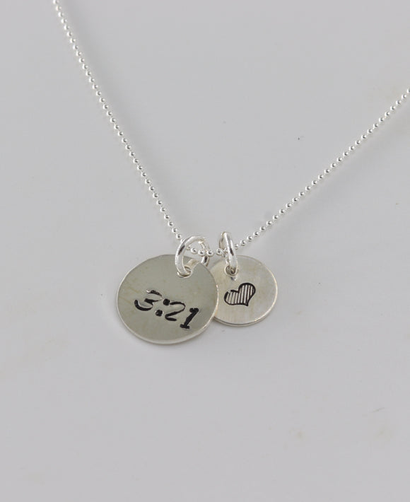 Premium Sterling Silver- 3:21 Love necklace