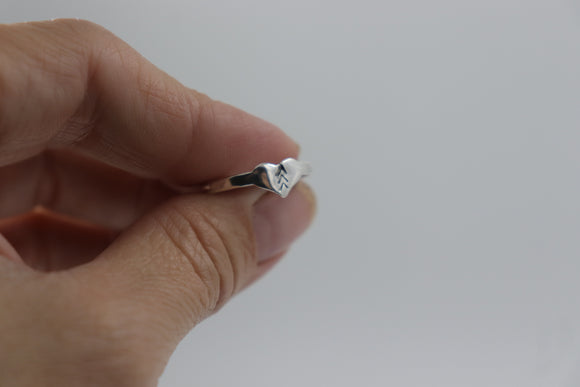 Heart 3 arrows Tattoo Ring