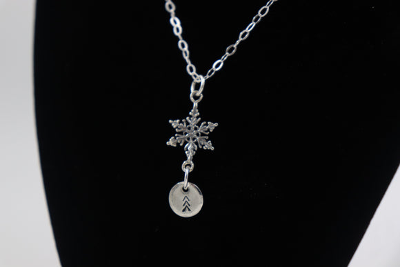 Snowflake dangle lucky 3 Arrows pendant