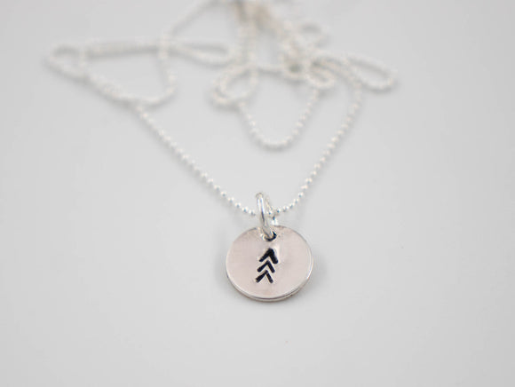 Premium Sterling Silver 3 Arrows (lucky 3 arrows tattoo) Necklace