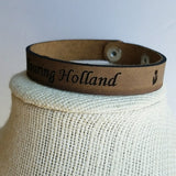"Leather Strap Bracelet ""Touring Holland"""